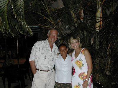 Dan McFee & wife Dawn with a Fijian friend 2002