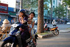 On a motorbike in Saigon, Vietnam, photographed in March 2008