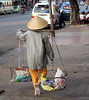 Hawker in Saigon, Vietnam, photographed in March 2008