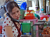 Woman at the Bin Tay Market in Saigon, Vietnam, photographed in March 2008
