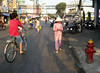 Cycling in Saigon, Vietnam, photographed in March 2008