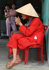 Old lady having a cigarette in Hoi An, Vietnam, in March 2008