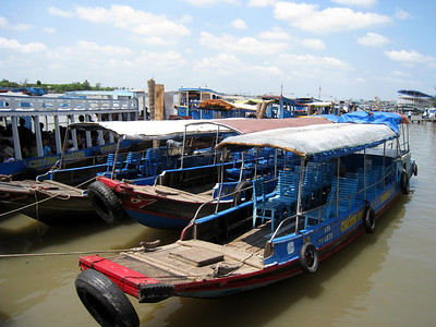 A boat on the Mekong Delta, Vietnam, photographed in March 2008