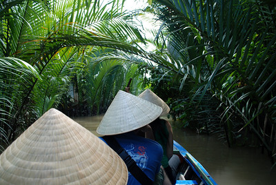 on a boat in the Mekong Delta, Vietnam