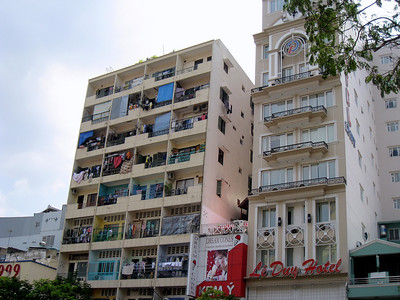 Building in Saigon, Vietnam, photographed in March 2008