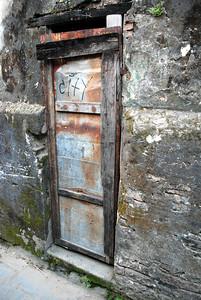 This is a door in the old city of Hoi An, taken in March 2008