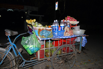 Selling food at Hue,Vietnam, photographed in March 2008