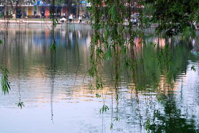 Hoan Kiem Lake in Hanoi, March 2008