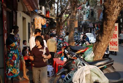 The old quarter in Hanoi, Vietnam, taken in March 2008