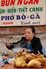 Vietnam, Hanoi: Serving us up a bowl of Pho Ga (chicken noodle soup).