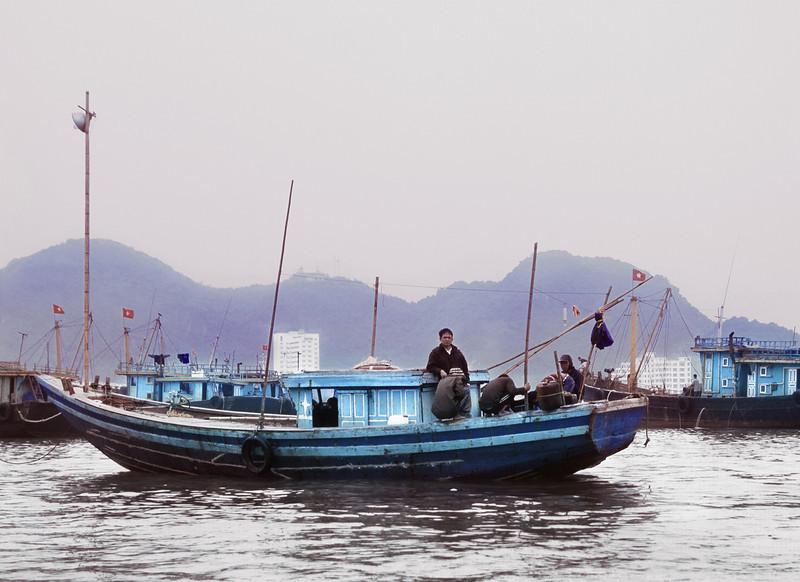 Captain, Harbor, Cat Ba Island, Vietnam