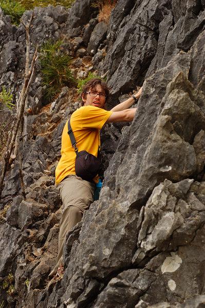 Yann trekking on Cat Ba Island