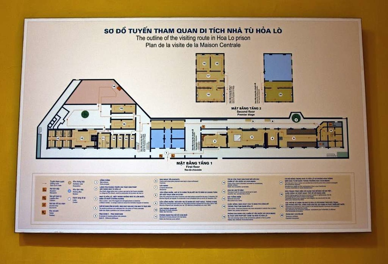 'Hanoi Hilton' prison museum, Hanoi, 7 March 2018 4.  Plan of the museum.