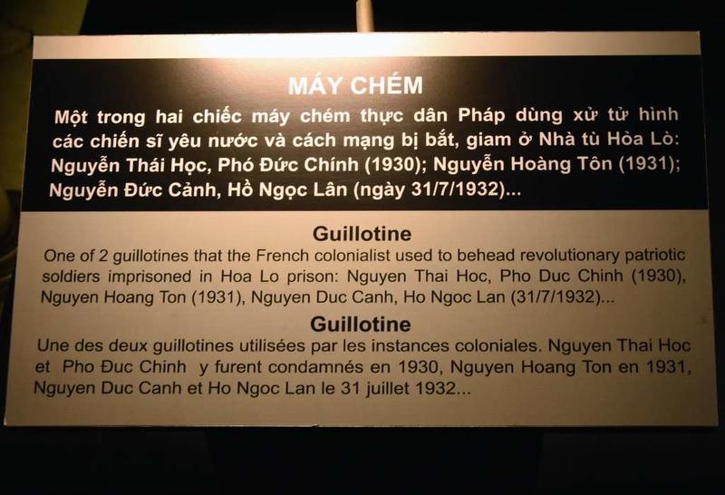 Guillotine, 'Hanoi Hilton' prison museum, Hanoi, 7 March 2018 1.