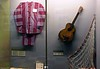 American prisoners, 'Hanoi Hilton' prison museum, Hanoi, 7 March 2018 4.  Prison tunic, guitar (without strings) and volleyball net.