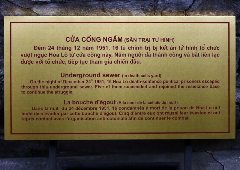 Sewer, 'Hanoi Hilton' prison museum, Hanoi, 7 March 2018 1.
