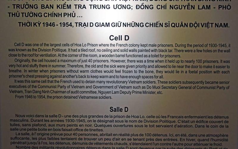 Cell D, 'Hanoi Hilton' prison museum, Hanoi, 7 March 2018 1.