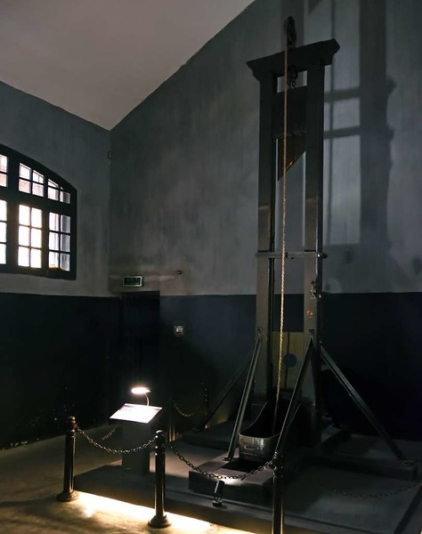 Guillotine, 'Hanoi Hilton' prison museum, Hanoi, 7 March 2018 2.
