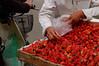 Strawberries for sale at Hoan Kiem Lake