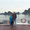 several hours after leaving port, we were amidst the rock formation of Halong Bay, a UNESCO world heritage site.