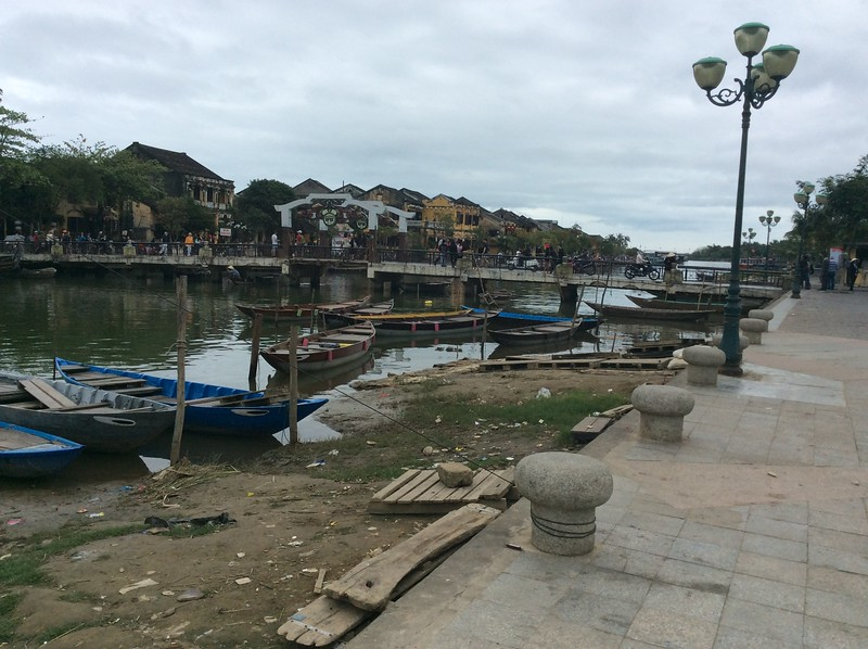 looking across the Thu Bon river at Hoi An, another UNESCO site in central Vietnam.  Hoi An was an important trading post between the 16th and 18th centuries with a strong Chinese influence.