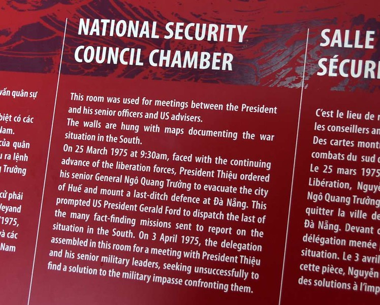 National Security Council chamber, Independence Palace, Ho Chi Minh City, 13 March 2018 1.