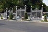 Gates, Independence Palace, Ho Chi Minh City, 13 March 2018.  People's Army of Vietnam tanks crashed through these gates on 30 April 1975, ending the Vietnam War and reuniting North and South Vietnam under Communist rule which continues today.