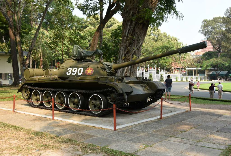People's Army of Vietnam T-54 tank 390, Independence Palace, Ho Chi Minh City, 13 March 2018.