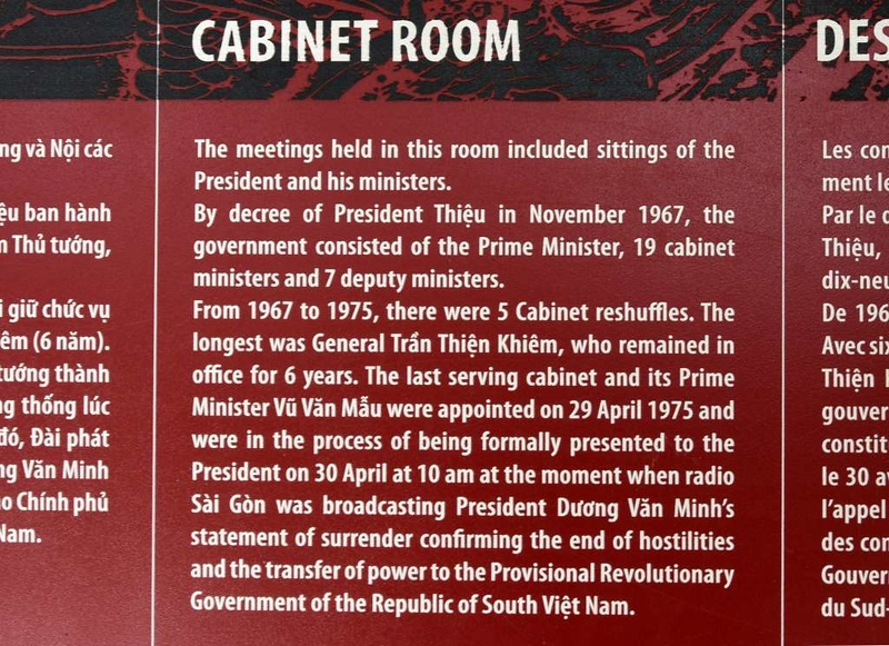 Cabinet room, Independence Palace, Ho Chi Minh City, 13 March 2018 1.