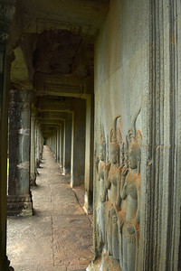 Carvings in temple walkway