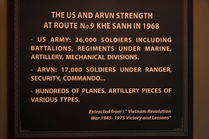 1968 battle, Khe Sanh combat base museum, 9 March 2018 2. The figures are not to be taken at face value,