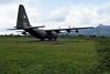 Lockheed C-130A Hercules 56-0532, Khe Sanh combat base, 9 March 2018 1.   Despite the USAF markings this is apparently a former South Vietnam AF aircraft. After the North Vietnamese cut Route 9 from Dong Ha, Khe Sanh could only be supplied by air, mainly by C-130s. USAF pilots developed the very steep 'Khe Sanh approach' to the airstrip to minimise their exposure to ground fire. Somestimes loads were extracted by parachute from Hercs as they taxied non-stop along the airstrip during what were literally flying visits.