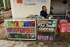 Coffee stall, Khe Sanh combat base museum, 9 March 2018. Complete with Pringles!