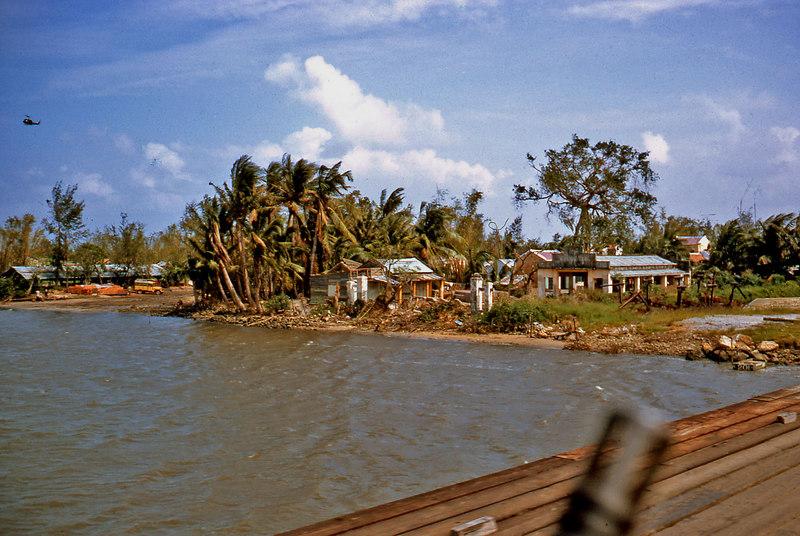 Riverbank houses in Da Nang