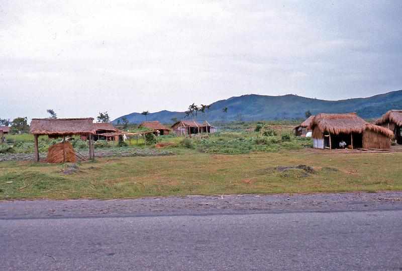 Some farm houses along the highway between Hue and Da Nang.