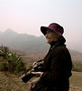 Elaine, On a Hillside, Can Cau, Vietnam