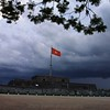 Storm brewing over The Citadel, Hue, Vietnam