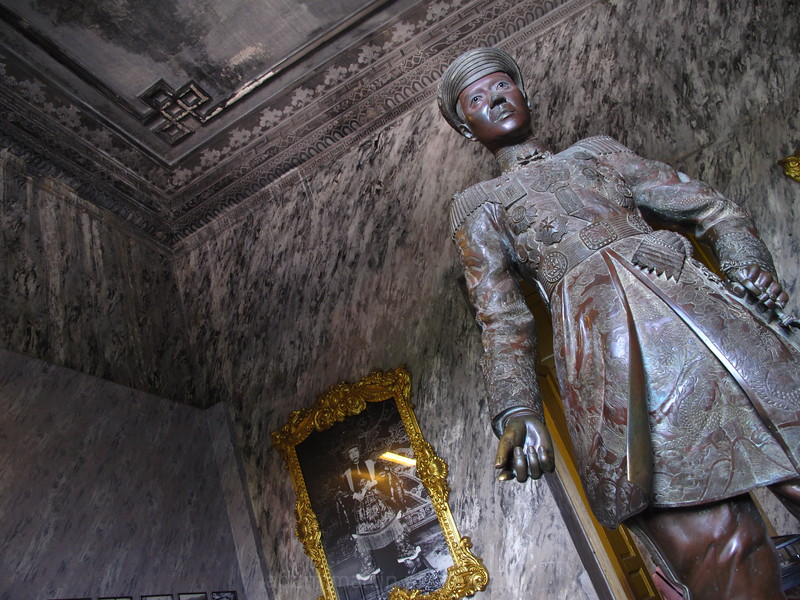 In the tomb of Emperor Khai Dinh, Hue, Vietnam