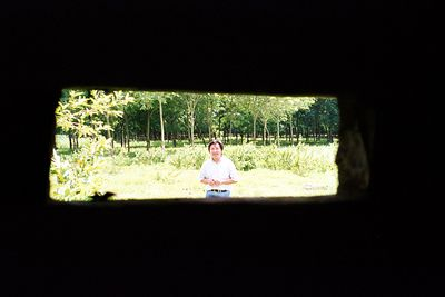 from inside Lai Khe bunker