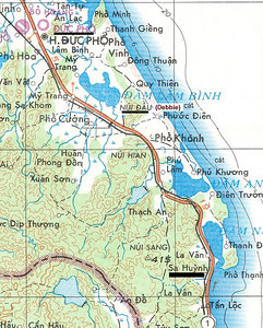 Map #1 - Note Pho Cuong, which is the vicinity of the Rice Bowl
