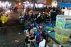 People eating in Hanoi, Vietnam in January 2012