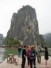 A mountain in Ha Long Bay, Vietnam in January 2012