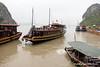 Boats off Dau Go Island in Ha Long Bay, Vietnam in January 2012
