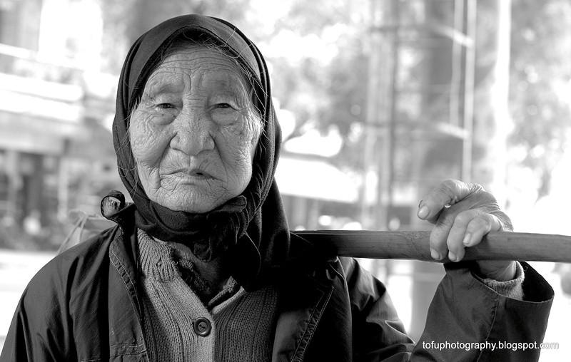 Beggar in Hanoi, Vietnam in January 2012