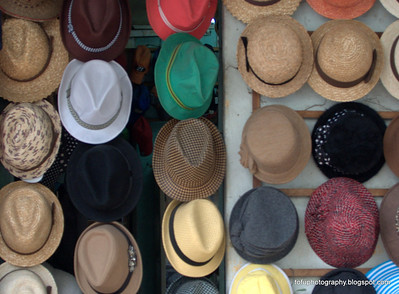 Hats for sale in Hanoi, Vietnam in January 2012