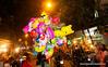 Selling balloons in Hanoi, Vietnam in January 2012