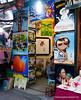 An art shop in Hanoi, Vietnam in January 2012