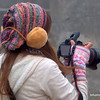 Thai woman with her camera in Sapa, Vietnam in January 2012