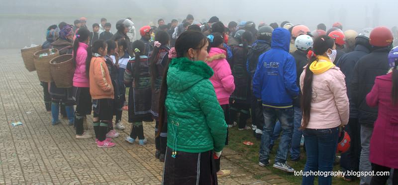People in Sapa, Vietnam in January 2012