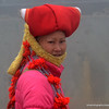 Red Dao Woman in traditional dress in Sapa, Vietnam in January 2012